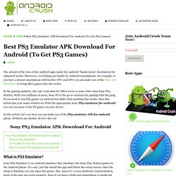 PS3 Emulator APK For Android Free Download