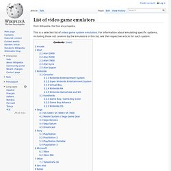 List of video game console emulators