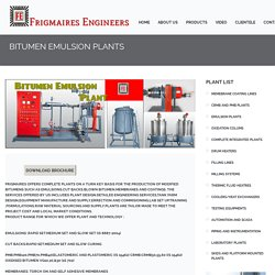 Emulsion plant manufacturers, Bitumen emulsion Plant.
