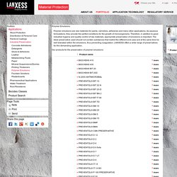 Polymer Emulsions - LANXESS Material Protection