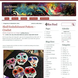 Skull Embelishment Pattern – Crochet