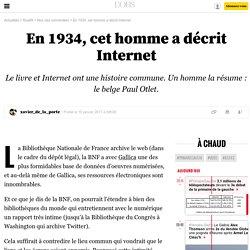 Paul Otlet et sa vision d'Internet