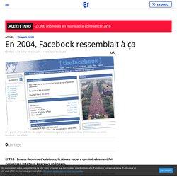En 2004, Facebook ressemblait à ça