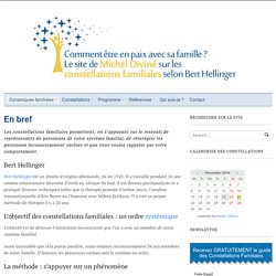 Les constellations familiales en bref