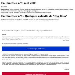 En Chantier n°9, mai 2009