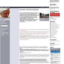 En France, l'islam est conquérant
