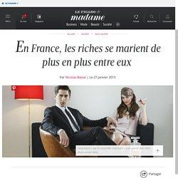 En France, les riches se marient de plus en plus entre eux