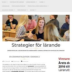 En grammatiklektion i Svenska 2