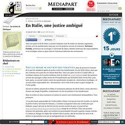 En Italie, une justice ambiguë