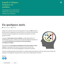 Esprit Critique, Science et médias - Un groupe de recherche de l'IRES de l'Université Paul Sabatier de Toulouse