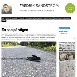 En sko på vägen
