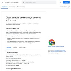 Clear, enable, and manage cookies in Chrome - Computer - Chrome Help
