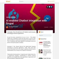 AI enabled Chatbot integration with Drupal