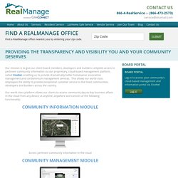 RealManage Tech Enabled Communities - RealManage HOA Services
