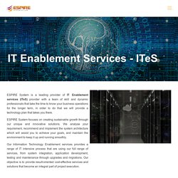 IT Enablement Services - ITeS and Network Management Solutions