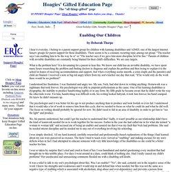 Enabling Our Children