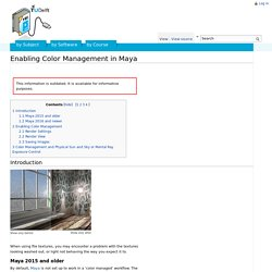 Enabling Color Management in Maya