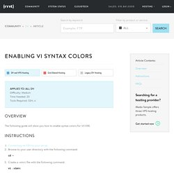 Enabling vi syntax colors - Media Temple