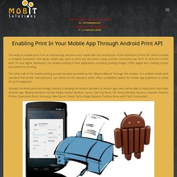 Enabling Print in Your Mobile App through Android Print API