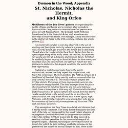 San Nicolás, Nicolás el ermitaño y el rey Orfeo