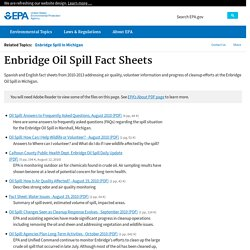 EPA Response to Enbridge Spill in Michigan