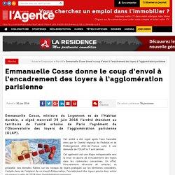 Emmanuelle Cosse donne le coup d'envoi à l'encadrement des loyers à l'agglomération parisienne