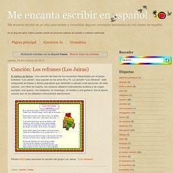 Me encanta escribir en español: frases