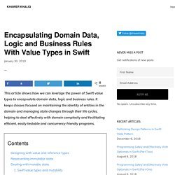 Encapsulating Domain Data, Logic and Business Rules With Value Types in Swift - Khawer Khaliq
