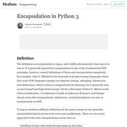 Encapsulation in Python 3 – Kateryna Bondarenko