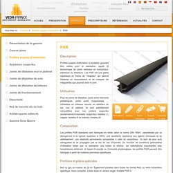 Profilés souples à encastrer Série PSR pour joints verticaux ou horizontaux - VEDA France