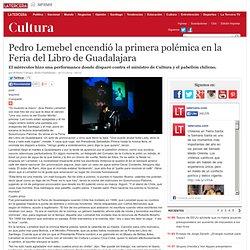 Pedro Lemebel encendió la primera polémica en la Feria del Libro de Guadalajara