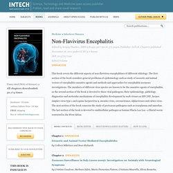 INTECH - NOV 2011 - Non-Flavivirus Encephalitis Au sommaire: Zoonotic and Animal Vector Mediated Encephalitides