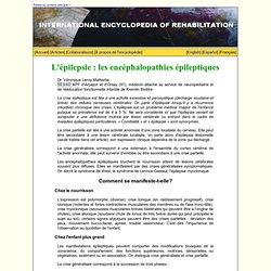 L'épilepsie : les encéphalopathies épileptiques
