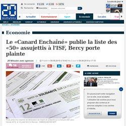 Le «Canard Enchaîné» publie la liste des «50» assujettis à l'ISF, Bercy porte plainte