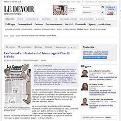 Le Canard enchaîné rend hommage à Charlie Hebdo