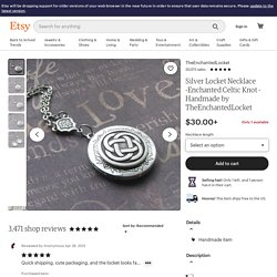 Silver Locket Necklace Enchanted Celtic Knot by TheEnchantedLocket