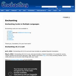 Enchanting : Enchanting : Enchanting