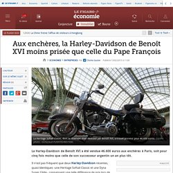 Aux enchères, la Harley-Davidson de Benoît XVI moins prisée que celle du Pape François