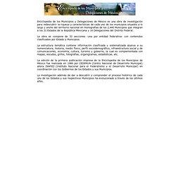 Enciclopedia de los Municipios y Delegaciones de México