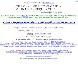 L'Enciclopèdia electrònica de seqüències de senzers