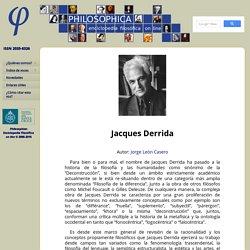 Enciclopedia filosófica on line — Voz: Jacques Derrida