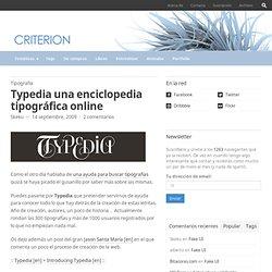 Typedia una enciclopedia tipográfica online