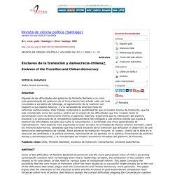Enclaves de la transición y democracia chilena