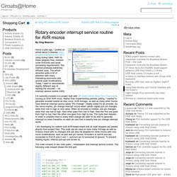 Rotary encoder interrupt service routine for AVR micros « Circuits@Home
