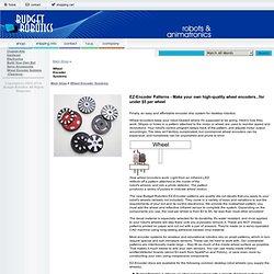 Wheel Encoder Systems Budget Robotics - Robot Kits, robotics kits, robot parts, educational robots, amateur robots