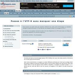 Encoder son site intégralement en UTF-8
