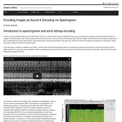 Gram Schmalz » Encoding Images as Sound & Decoding via Spectrogram