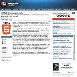 HTML5 Encoding Secrets