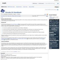 Encodo C# Handbook