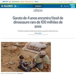 Garoto de 4 anos encontra fóssil de dinossauro raro de 100 milhões de anos